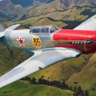 The Yak 3 Russian fighter was imported and lovingly restored by its Blenheim-based owner Graeme...