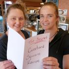 Tapanui's Top Nosh Cafe owners Aleisha Haskins (left) and Farryn Crawford say their popular...