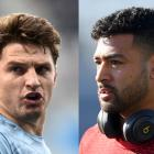 Beauden Barrett and Richie Mo'unga will go head to head in the North v South game. Photos: Getty...