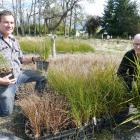 Pomahaka Water Care Group chairman Simon O'Meara (left), and project manager Lloyd McCall inspect...