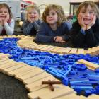 Broad Bay School pupils (from left) Ruby Clarke (5), Vera Wainwright (5), Emerson Bond (6) and...