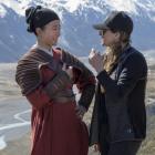 Niki Caro (right) on the set of Mulan Photo: Supplied via RNZ