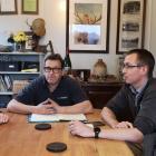 Mountain River Venison marketing manager John Sadler (left) met supplier David Morgan and...