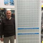Paul Wilkins displays South Canterbury rainfall data from 1988 in his front office in a bid to...