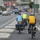 The busy one-way Cumberland Street. Photo: ODT files