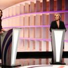 Jacinda Ardern and Judith Collins during the TVNZ debate last week. Photo: Getty Images