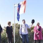 Celebrating the unveiling of Pomerania Way are (from left) Polish ambassador Zbigniew Gniatkowski...