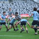 Action from the match between Otago Boys' High School and King's High School at Forsyth Barr...