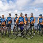 John Winkie (centre) with the Warkworth riders. Photo: MARC HERBULOT PHOTOGRAPHY via RNZ