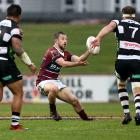 Southland first five-eighth Scott Eade receives the ball during a Mitre 10 Cup game against...