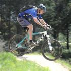 Mountain Biking Otago president Hamish Seaton in action on the Signal Hill track in Dunedin...