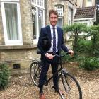 Oliver Hailes sets off from his home to a graduation dinner at Trinity College, Cambridge, after...