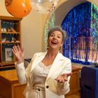 Paula Bennett, pictured getting ready for her valedictory party in her office at Parliament...