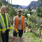 University of Canterbury Student Volunteer Army secretary Jessica Gosling (front left) and events...