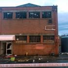 The building was significantly damaged in the blaze. Photo: James Hall