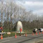The air valve malfunction sent wastewater soaring high into the air. Photo: NZ Herald