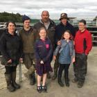 Running the Telford dairy farm is a family affair for manager John Thornley (centre), who is...