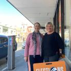 Electoral Commission returning officer for Taieri electorate Mary-Jane Moffat (left) and...