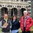 Dunedin Abrahamic Interfaith Group members (from left) Paul Gourlie, Emily Schwartz and Greg...
