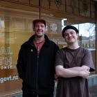 Jonny Waters (left) and Elliot Phillips have organised the art exhibition ''Mental Health'',...