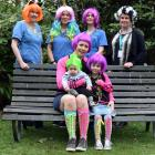 Julia Steedman and her daughter, Brianna, and son, Enza, celebrate Wig Wednesday with Southern...