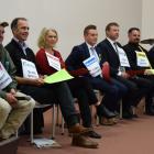 Taieri parliamentary candidates (from left) Robert Andrews (Act New Zealand), Scott Willis (Green...