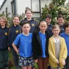 School pupils who spoke at the Otago Peninsula Community Board meeting were (back from left)...