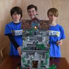 Benji Egan (11), Sammy Moore and Flynn Montgomerie (both 12), are set to display their haunted...