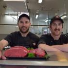 New World Gardens butchers Issac Webster (left) and Taylor Wyllie are ready for a national...