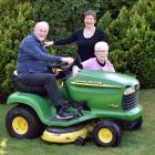 Stroke survivor Russell Fox and his wife, Dianne (centre), with their friend Gaynor McNaught,...
