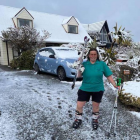 It's not every day you get to put your skis on right out of your door. Photo: Supplied