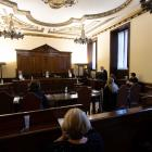The trial in the Vatican's tiny courtroom is the first concerning abuse committed inside the city...