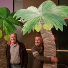 Buller District Council property manager Rick Barry (left) and Inangahua Community Board member...