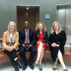 New Labour MPs (from left) Ingrid Leary (Taieri), Ibrahim Omer (list), Rachel Brooking (Dunedin,...