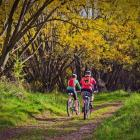 A promotional shot for the proposed new cycle trails. Not everyone has quite such a rosy view....