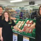 Shaun and Taryn McFadden (left) have sold their Netherby Four Square business to Kim Woods. Photo...