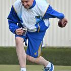 Taieri bowler Andrew McLean in action at the North East Valley 10,000 bowls tournament yesterday....