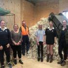 Members of the Timaru Girls' High School Young Farmers Club (from left) Katelynn Coleman (15),...