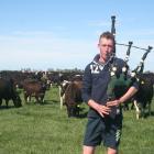 Dairy farmer Joseph Williams practises on the home farm at Lagmhor. PHOTO TONI WILLIAMS