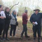 Dairy farmer Ian Thornton shares his wetland development journey with others. PHOTO: TONI WILLIAMS