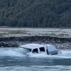 A river crossing near Mt Cook goes wrong. Photo: Facebook