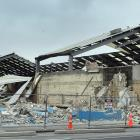 Demolition work continues at the site of the new Dunedin Hospital yesterday. PHOTO: PETER MCINTOSH
