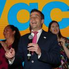 A giddy David Seymour on election night. Photo: Getty Images