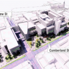 A draft illustration of how the building layout of the new Dunedin Hospital might look. IMAGE:...