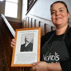 Nichol's Garden Cafe owner Rebecca Stevenson says she shares her cafe with ''Fred'' — a long...