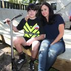 Jonty and Lucy Abbott on the skateboard ramp built for the 12-year-old after an appeal was...