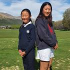 Yoonae Jeong (left) and Sumin Kang are ready to lead the Otago women's golf team ...
