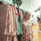 Dame Trelise Cooper with her pre-autumn 2021 collection on display at Oamaru's Design Federation...