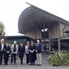 At the inaugural meeting of the Otago local advisory committee at Orokonui Ecosanctuary are (from...