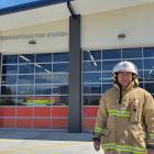 Queenstown Chief Fire Officer Terry O'Connell outside the refurbished station on ...